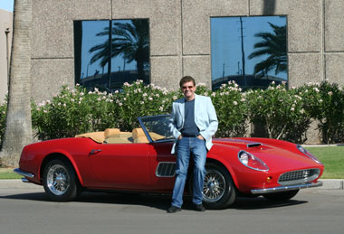 Mike Renucci, Ph.D., President & CEO with a CalSpyder Sports Car